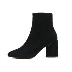 New Fashion Black Suede Ankle Womens Boot Shoes