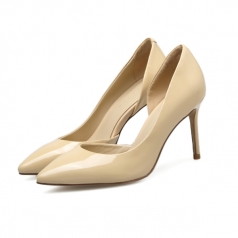 New Fashion Womens Pointed Toe Natural High Heel Shoes